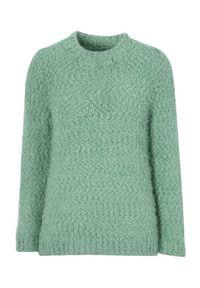 Zielony sweter Cellbes na co dzień, długi, z długim rękawem