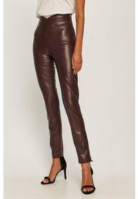 Fioletowe spodnie materiałowe Patrizia Pepe