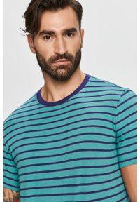 Niebieski t-shirt Pepe Jeans z okrągłym kołnierzem