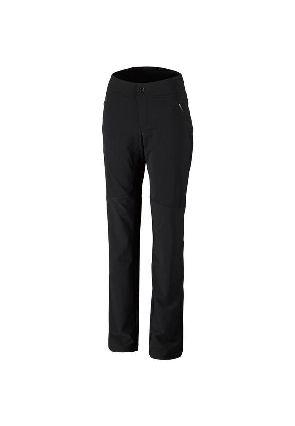 Czarne spodnie trekkingowe columbia