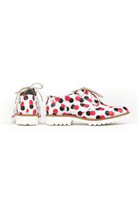 Czerwone półbuty Zapato z okrągłym noskiem, na lato, na sznurówki, klasyczne