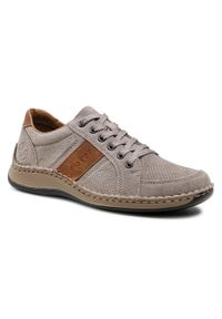 Rieker - Sneakersy RIEKER - 05216-42 Grau. Okazja: na spacer, na co dzień. Kolor: szary. Materiał: zamsz. Szerokość cholewki: normalna. Styl: sportowy, casual