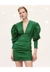 ISABEL MARANT - Zielona sukienka mini Stella. Kolor: zielony. Materiał: materiał. Długość: mini