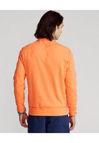 Ralph Lauren - RALPH LAUREN - Pomarańczowa bluza Cabin. Okazja: na co dzień. Typ kołnierza: polo, bez kaptura. Kolor: pomarańczowy. Materiał: tkanina, polar. Wzór: haft. Styl: casual