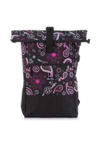 BAG STREET - Plecak damski na laptopa z portem USB Bag Street 4086. Materiał: materiał. Styl: street