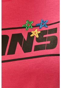 Różowa bluzka Vans na co dzień, z okrągłym kołnierzem, casualowa