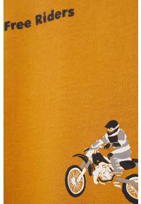 Żółta bluza Mango Kids z nadrukiem, na co dzień