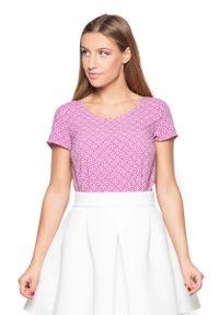 Różowa bluzka Katrus z nadrukiem