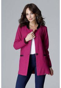 Różowa kurtka Katrus ze stójką, elegancka