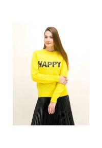 Sweter My Twin 192MT3220. Kolor: żółty