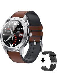 Brązowy zegarek smartwatch