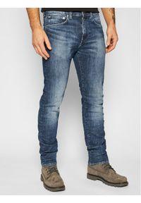 Edwin Jeansy Slim Fit Yuuki I027222 01YV Granatowy Slim Fit. Kolor: niebieski. Materiał: jeans