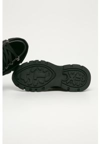 Czarne buty sportowe Big-Star z cholewką, na sznurówki, z okrągłym noskiem