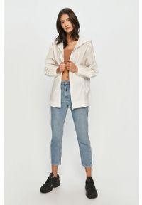 Biała kurtka adidas Originals z kapturem, gładkie