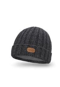 Zimowa czapka dziecięca PaMaMi - Ciemnoszary. Kolor: szary. Materiał: akryl, poliamid. Sezon: zima