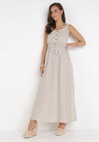Born2be - Kremowa Sukienka Aquavianna. Kolor: beżowy