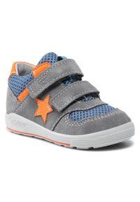 Sneakersy RICOSTA - Pepino By Ricosta Nuri 73 2424400/453 Graphit/Jeans. Okazja: na spacer, na co dzień. Zapięcie: rzepy. Kolor: szary. Materiał: skóra, zamsz, materiał. Szerokość cholewki: normalna. Styl: casual