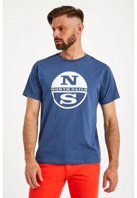 North Sails - T-SHIRT NORTH SAILS. Materiał: bawełna, włókno