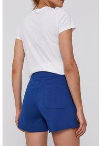 Polo Ralph Lauren - Szorty. Kolor: niebieski. Materiał: dzianina. Wzór: nadruk