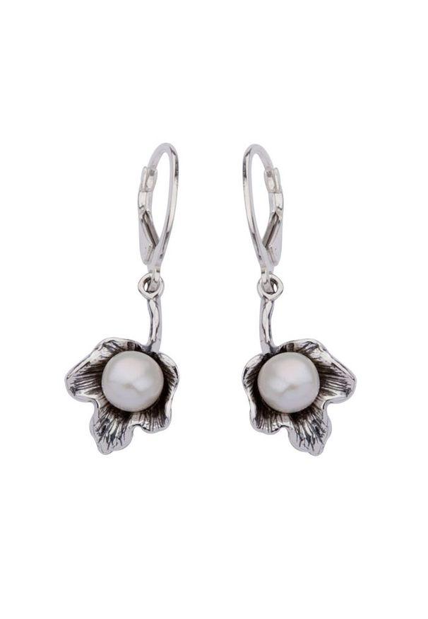 Polcarat Design - Kolczyki srebro perełka K 1557. Materiał: srebrne. Wzór: aplikacja. Kamień szlachetny: perła