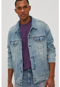 Niebieska kurtka Levi's® na spotkanie biznesowe, biznesowa
