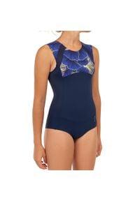 OLAIAN - Kostium kąpielowy jednoczęściowy MANLY 900 SHIBU dla dzieci. Kolor: niebieski. Materiał: materiał