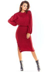 Czerwona spódnica ołówkowa Awama