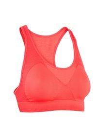 KALENJI - Stanik do biegania Kalenji Basics. Kolor: różowy, czerwony, wielokolorowy. Materiał: poliamid, elastan, poliester, materiał