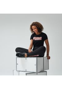 Puma - Koszulka krótki rękaw Gym & Pilates damska. Materiał: materiał, bawełna. Długość rękawa: krótki rękaw. Długość: krótkie. Sport: joga i pilates