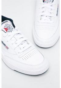 Białe sneakersy Reebok Classic Reebok Classic, na sznurówki, z cholewką #5