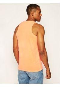 Superdry Tank top Ol Neon Lite Vest M6010024A Pomarańczowy Regular Fit. Kolor: pomarańczowy