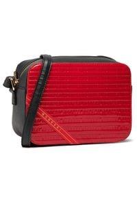 Monnari - Torebka MONNARI - BAG1740-M05 Black With Red. Kolor: czarny, wielokolorowy, czerwony. Materiał: skórzane