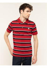 Czerwona koszulka polo Guess polo