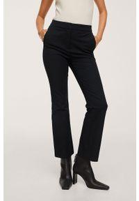 mango - Mango - Spodnie Bootcut. Stan: podwyższony. Kolor: czarny. Materiał: włókno