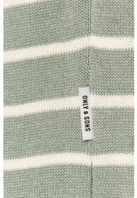 Only & Sons - Sweter. Okazja: na co dzień. Kolor: zielony. Materiał: bawełna. Długość rękawa: długi rękaw. Długość: długie. Styl: casual