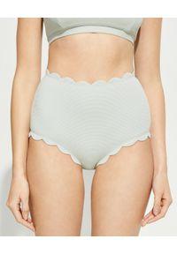 MARYSIA SWIM - Dół od bikini Santa Monica. Stan: podwyższony. Kolor: szary. Materiał: tkanina