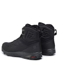 Czarne buty trekkingowe salomon Thinsulate, trekkingowe