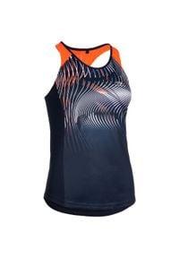 KALENJI - Koszulka bez rękawów do biegania damska. Kolor: pomarańczowy, wielokolorowy, czerwony, niebieski. Materiał: poliester, materiał. Długość rękawa: bez rękawów