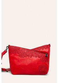 Czerwona listonoszka Desigual z haftami, z haftem