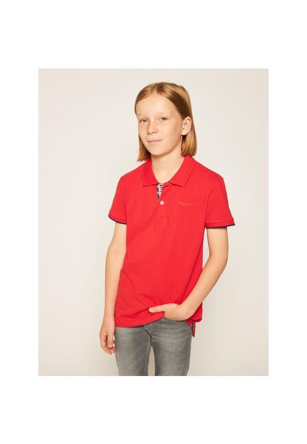 Czerwony t-shirt polo Pepe Jeans polo