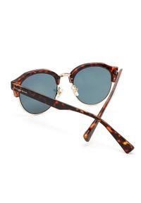Hawkers - Okulary przeciwsłoneczne CAREY ROSE GOLD CLASSIC. Kształt: okrągłe. Kolor: różowy