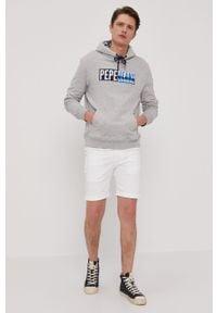 Szara bluza nierozpinana Pepe Jeans casualowa, z kapturem, na co dzień