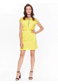 Żółta sukienka TOP SECRET casualowa, na co dzień, na lato