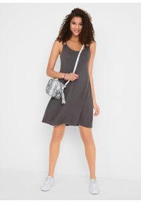 Sukienka z dżerseju bonprix szary łupkowy. Kolor: szary. Materiał: jersey