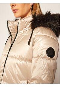 Złota kurtka puchowa DKNY
