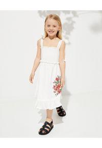 ZIMMERMANN KIDS - Biała sukienka z haftem 0-10 lat. Kolor: biały. Materiał: bawełna. Długość rękawa: na ramiączkach. Wzór: haft. Sezon: lato #5