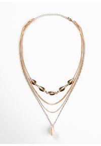 Wielorzędowy łańcuszek bonprix złoty kolor #3