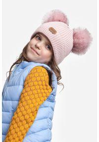 Zimowa czapka dziewczęca PaMaMi - Beżowy. Kolor: beżowy. Materiał: poliamid, akryl. Sezon: zima