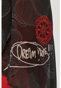 Czarna sukienka Desigual mini, na co dzień, gładkie