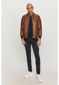 Premium by Jack&Jones - Sweter. Okazja: na co dzień. Kolor: niebieski. Materiał: dzianina. Styl: casual